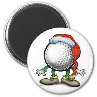 Navidad del golf imán redondo 5 cm