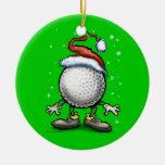 Navidad del golf ornamento de navidad