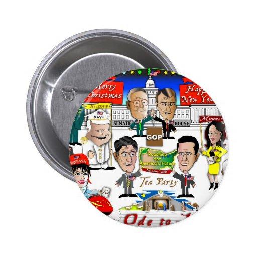 Navidad del GOP Pin