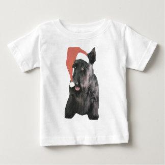 Navidad del gorra de Terrier Santa del escocés Camisas