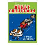 Navidad del granjero tarjetón