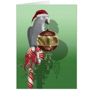 Navidad del gris africano tarjeta de felicitación