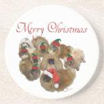 Navidad del grupo de Pekingese Posavasos Manualidades