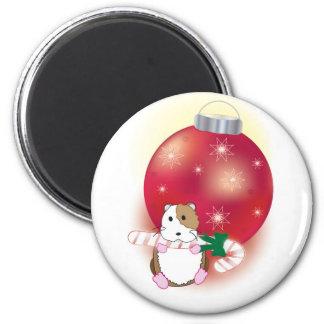 Navidad del Hámster-iffic Imán Redondo 5 Cm