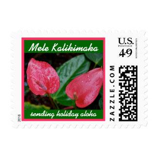 Navidad del Hawaiian de Mele Kalikimaka Sellos