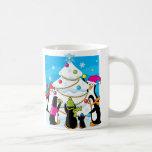 Navidad del hielo taza de café