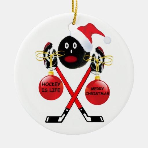 Navidad del hockey adornos