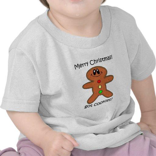 navidad del hombre de pan de jengibre camiseta