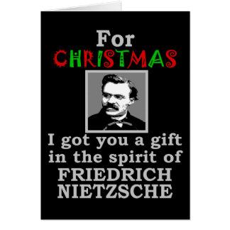 Navidad del humor de Nietzsche Tarjeta De Felicitación