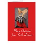 Navidad del indicador del reno de Dakota del Sur f Felicitaciones
