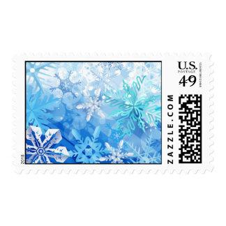 Navidad del invierno del arte del diseño del franqueo