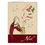 Navidad del jazz de la langosta de los cangrejos tarjeta de felicitación