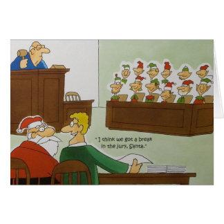 Navidad del jurado felicitación