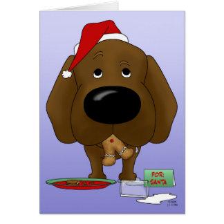 Navidad del labrador retriever tarjeton