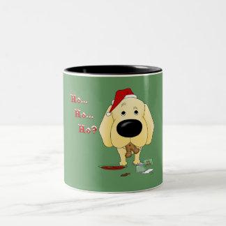 Navidad del labrador retriever tazas