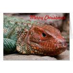 Navidad del lagarto tarjeta pequeña