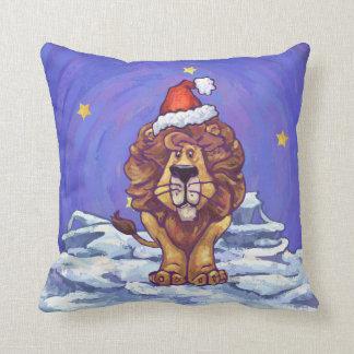 Navidad del león cojines