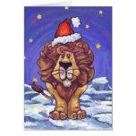 Navidad del león felicitacion