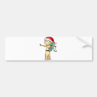 Navidad del libra pegatina para auto