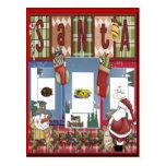 Navidad del libro de recuerdos postal