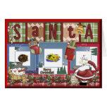 Navidad del libro de recuerdos tarjeta de felicitación