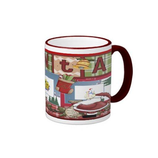 Navidad del libro de recuerdos taza de café
