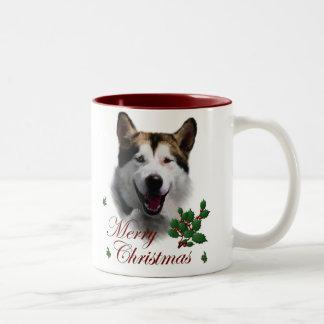 Navidad del Malamute de Alaska Tazas De Café