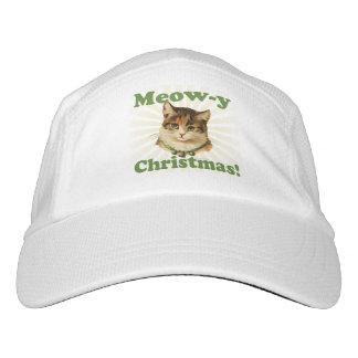 Navidad del Maullido-y, animal divertido lindo del Gorra De Alto Rendimiento