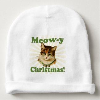 Navidad del Maullido-y, animal divertido lindo del Gorrito Para Bebe