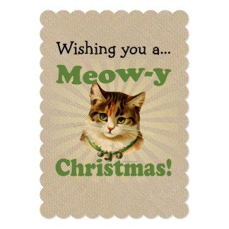 Navidad del Maullido-y, animal lindo del gato del Anuncio Personalizado