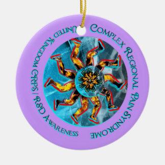 Navidad del melocotón de Lavendar de la conciencia Adorno