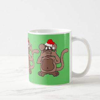 navidad del mono taza