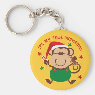 Navidad del muchacho del mono 1r llavero