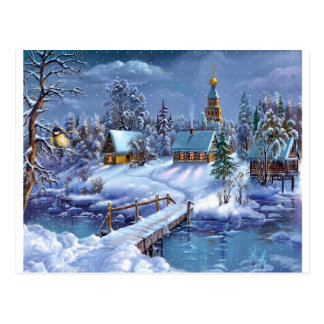 Navidad del muelle tarjetas postales