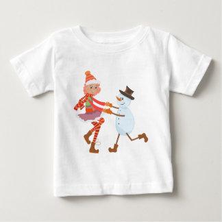 Navidad del muñeco de nieve del baile t shirts