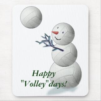 Navidad del muñeco de nieve del voleibol mousepad
