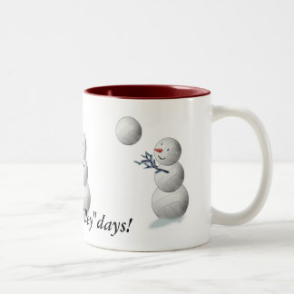 Navidad del muñeco de nieve del voleibol tazas de café