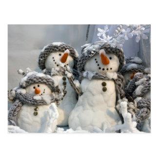 Navidad del muñeco de nieve postales