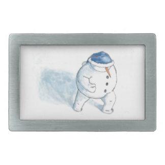 Navidad del muñeco de nieve que saluda hebilla de cinturon