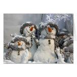 Navidad del muñeco de nieve tarjetón