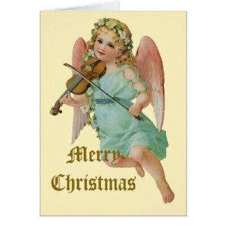 Navidad del músico del ángel del vintage