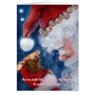 Navidad del orangután de Papá Noel Tarjeta Pequeña