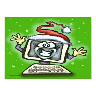 """Navidad del ordenador invitación 5"""" x 7"""""""