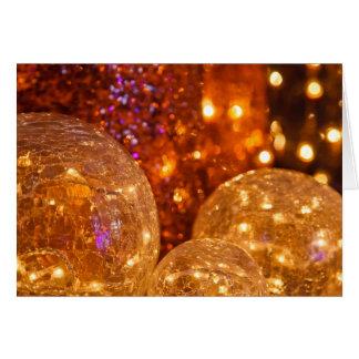 Navidad del oro, ornamentos simples del vintage de tarjeta de felicitación