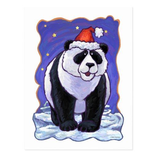 Navidad del oso de panda postales