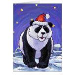 Navidad del oso de panda tarjetas