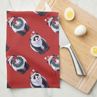 Navidad del oso de panda toallas