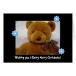 Navidad del oso de peluche tarjeta de felicitación