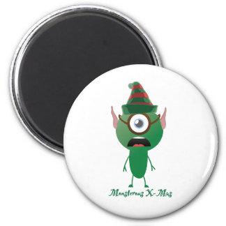 Navidad del ouphe imán redondo 5 cm