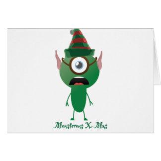 Navidad del ouphe tarjeta de felicitación